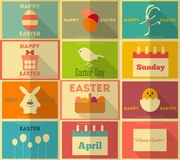 Retro Easter Labels Royalty Free Stock Photos
