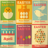 Retro Easter Posters Royalty Free Stock Image
