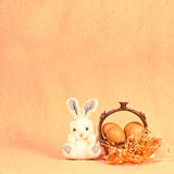Retro Easter rabbit Stock Photography