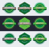 Retro eco badges Stock Photography