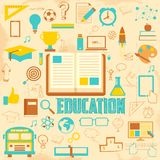 Retro Education Background Royalty Free Stock Photos