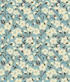 Retro een patroon met magnoliatakken Stock Foto's