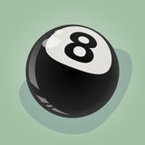 Retro eight ball illustration Royalty Free Stock Photography