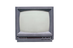 Retro- einfarbiger Fernseher Stockfotos