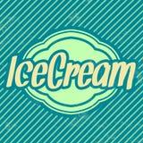 Retro- Eiscreme-Schablone - Weinlese-Hintergrund Stockbild