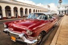 Retro el automotriz la tarjeta de visita de Cuba Foto de archivo