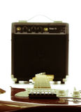 Retro Electric guitar and amplifier Stock Photos