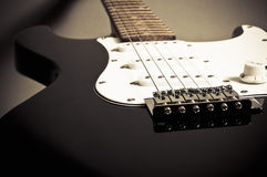 Retro electric guitar detail Royalty Free Stock Photos