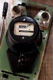 Retro electric meter Royalty Free Stock Photos