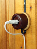 Retro electric outlet Royalty Free Stock Photo