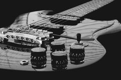 Retro electro gitarr Arkivbild