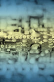 Retro electronic circuit board, toned. Stock Photography