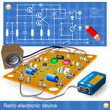Retro electronic device Stock Images
