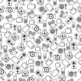 Retro electronic seamless vector pattern Stock Photography