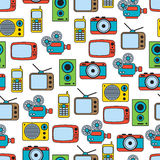 Retro electronic seamless vector pattern Stock Photo