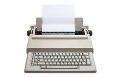 Retro Electronic typewriter. Isolated on white background Stock Images