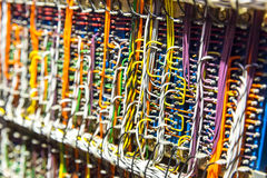 Retro electronic wires and cables Royalty Free Stock Image