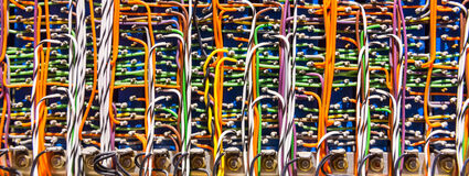 Retro electronic wires and cables Stock Photo