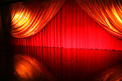 Retro elegant theater Stock Images