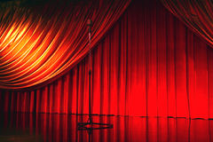 Retro elegant theater with microphone Royalty Free Stock Photo