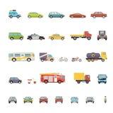 Retro elegante del diseño de los símbolos planos modernos del transporte Foto de archivo libre de regalías