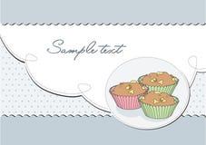 Retro elegantes des Hintergrundes mit Muffin;   Lizenzfreies Stockfoto