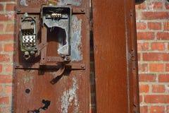 Retro elektryczny lontu pudełko Fotografia Stock