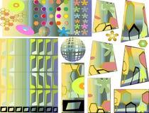 Retro elementen Stock Foto