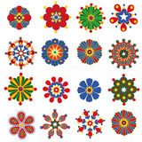 Retro elementi del fiore per il disegno Fotografie Stock