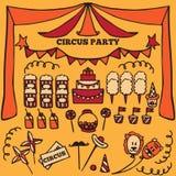 Retro elementi di idee del partito del circo Fotografia Stock Libera da Diritti