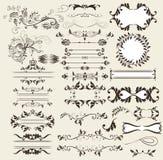 Retro elementi di vettore e decorazioni calligrafici della pagina Fotografia Stock Libera da Diritti