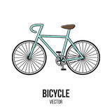 Retro elemento dell'isolato di vettore di sport della bicicletta fotografie stock