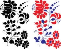 Retro elemento floreale della decorazione Fotografia Stock