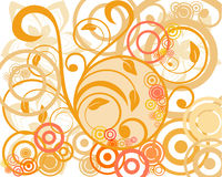 Retro elements. Vector illustration of circle and floral elements Royalty Free Stock Image