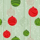 Retro elements for design Christmas balls seamless Stock Photos