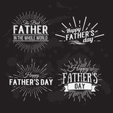 Retro elements for Father's Day calligraphic designs. Vintage or Stock Photo