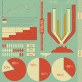 Retro elements for infographics. Charts, Graphs for Presentation - illustration Royalty Free Stock Photos