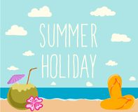 Retro elements for Summer calligraphic designs Stock Photography