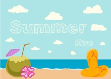 Retro elements for Summer calligraphic designs Stock Photos