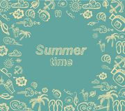Retro elements for Summer calligraphic designs Royalty Free Stock Images