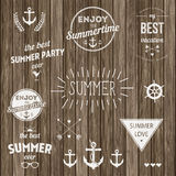 Retro elements for Summer Vintage labels, logo All Stock Photography