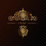 retro elementu kaligraficzny ornament ilustracji