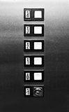 Retro Elevator Buttons Royalty Free Stock Photo