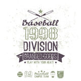 Retro emblem baseball division of college Royalty Free Stock Image