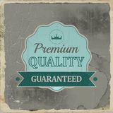 Retro emblem or label of premium quality for vintage design Royalty Free Stock Photo