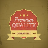Retro emblem or label of premium quality for vintage design Royalty Free Stock Image