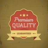 Retro emblem or label of premium quality for vintage design Royalty Free Stock Image
