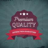 Retro emblem or label of premium quality for vintage design Royalty Free Stock Photography