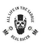 Retro emblem motorcyclist Royalty Free Stock Photos