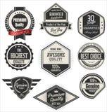 Retro emblem och etikettsamling Royaltyfria Foton